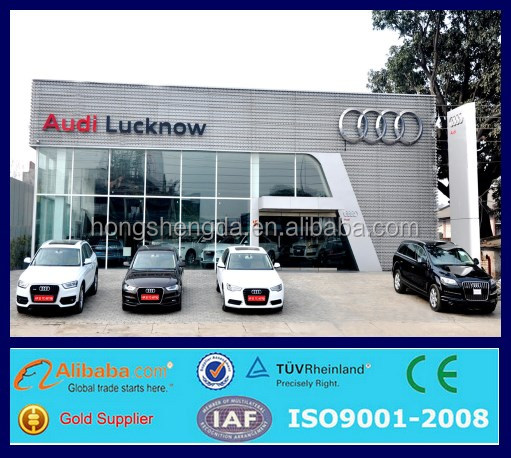 prefabricated steel structure car showroom exhibition hall shopping mall