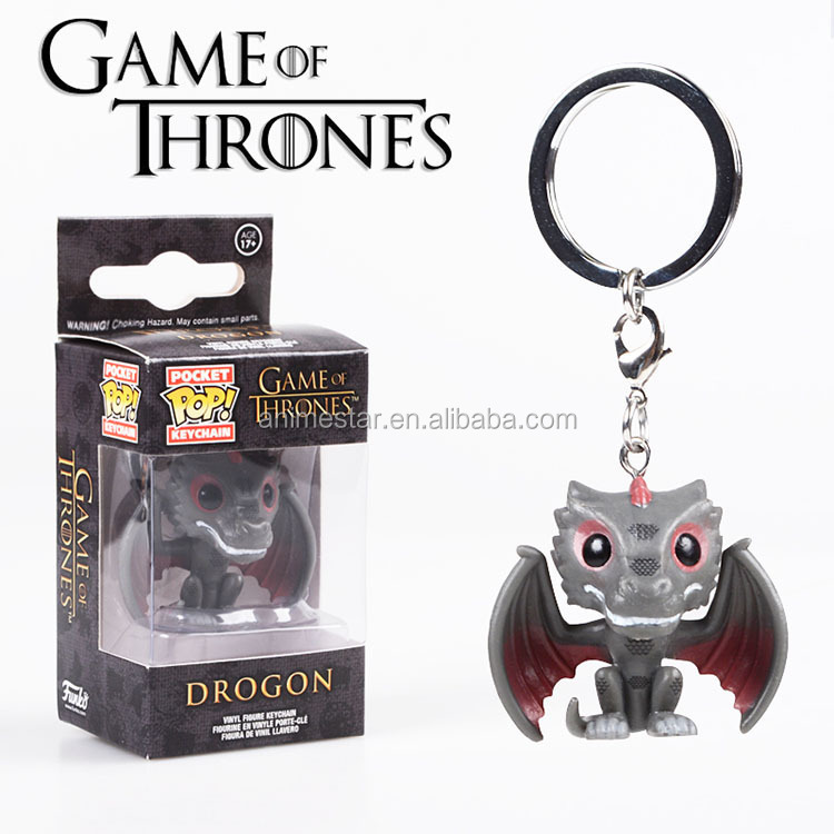 New Design Funko Pocket POP Game of Thrones Anime Figure Keychain