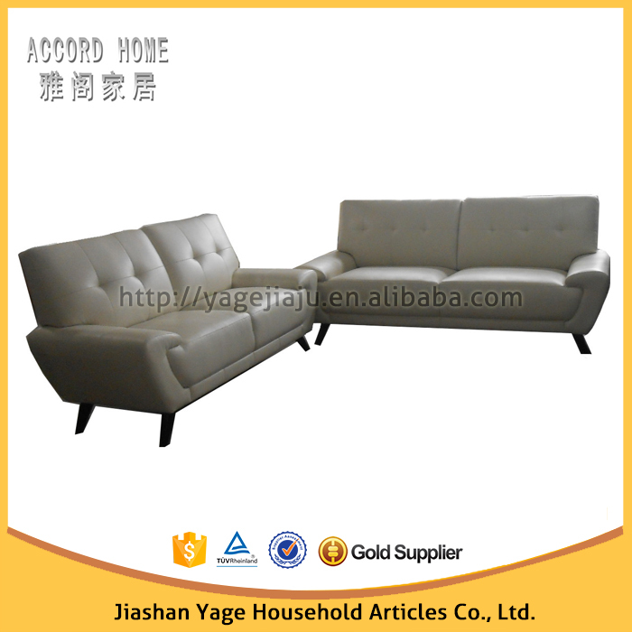 Modern designs stationary loveseat leather sofa set for living room furniture