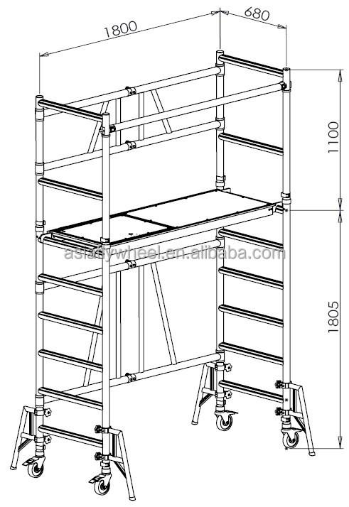 Scaffolding Sizes Standard : Versatile aluminium folding scaffold british standard
