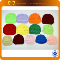 2014 Promotion beautiful hand knitted crochet kufu hat wholesale for baby