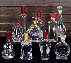 unique shaped all kinds of vodka red wine glass bottle with lid