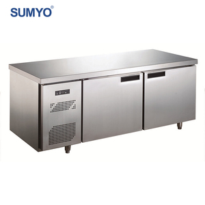 Products Promotion!Commercial single-temperature stainless steel double counter top display refrigerator freezer