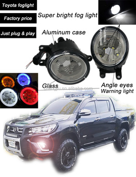 Factory price 4x4 pickup toyota hilux revo fog light with drl universal hilux vigo fog lamp