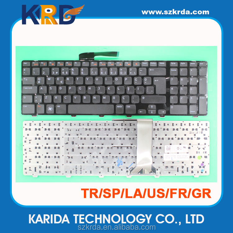 Wholesale Replace for Dell Inspiron 17R N7110 laptop keyboard TR Turkish layout black