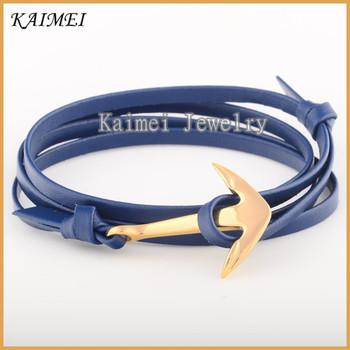 Handmade Genuine Leather Anchor Bracelet Meaning