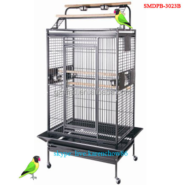 Bird Cage for Parrot Manufacturer Produce African Grey Playtop Cheap Strong Wrought Iron Metal Big Large Macaw Parrot Cage