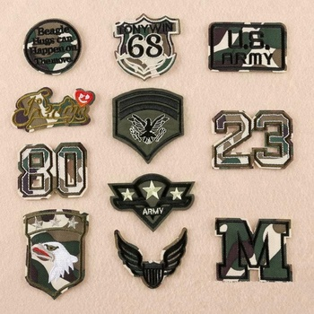 Wholesale Digitizing Machine Embroidery Camo Military Patch Designs