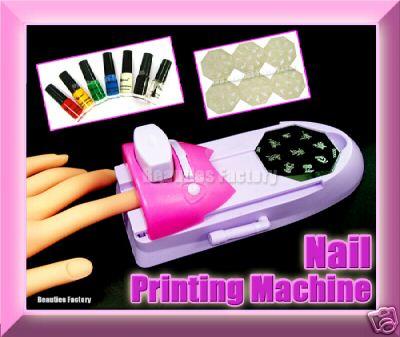 Nail Art Printing Machine W Polish Varnish Print False Buy Nail