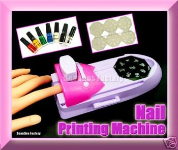 Nail Art Printing Machine W Polish Varnish Print False Buy Nail