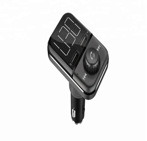 Wireless Bluetooth Car Charger FM Transmitter ,Car Kit Music Receiver With Display Screen
