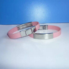 promotionalcustom logo and shape silicone wristband bracelet with metal clip