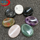 Crystal Worry Stones Massage stones Engraved Chakra Oval Cabochon Set with Reiki carvings for healing