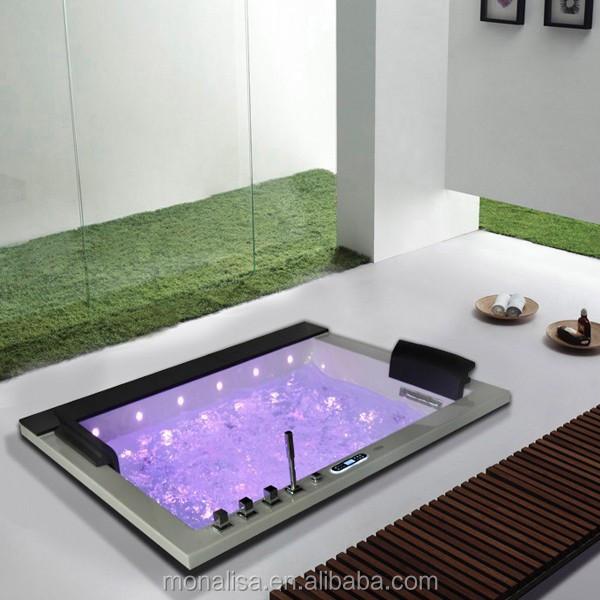 2 Person Rectangle Bath Tub Acrylic Plastic Portable Walk In Bathtub ...