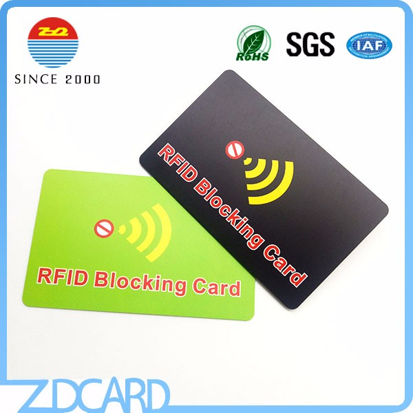 rfid blocking card credit card protector plastic card