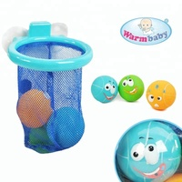 water float baby bath play toys kids plastic ball with basket