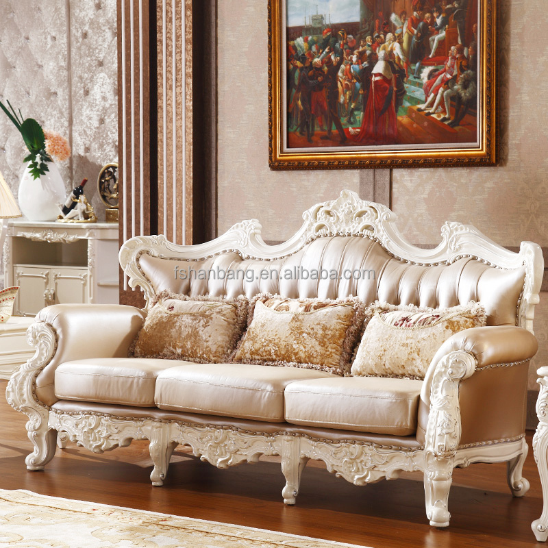Luxury Classical French Italian European Antique Style Carved Rubber Solid  Wood Frame Artistic Red Brown Leather Sofa Set - Buy European Leather ...