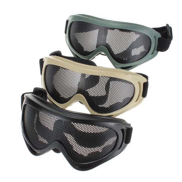 Новый горячая распродажа на открытом воздухе охота Airsoft сетка тактическая ударопрочность глаза-защиты спорта на открытом воздухе металлических сеток очки таращить