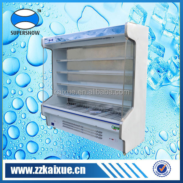 Heavy duty adjustable shelves supermarket glass door refrigerator