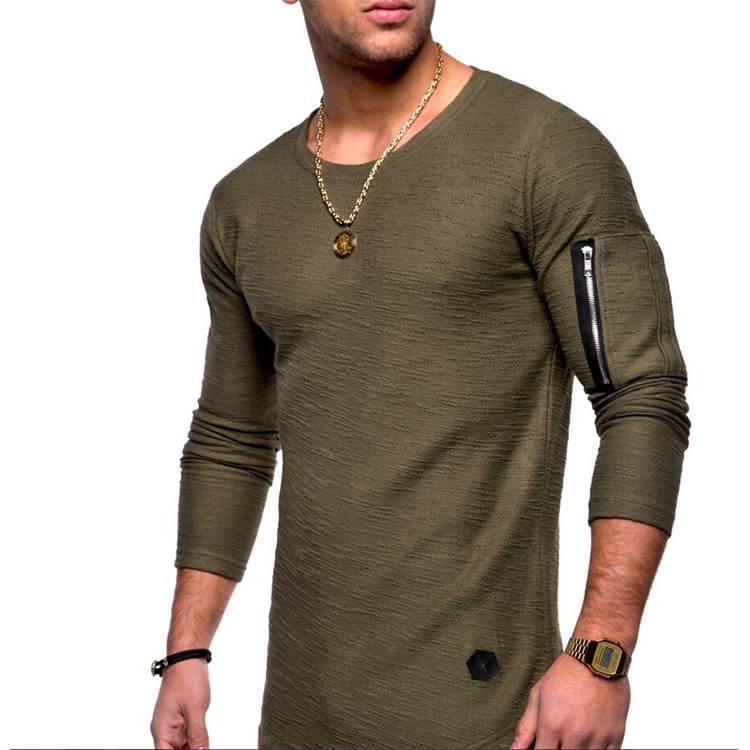 Wholesale Longline Linen T shirt For <strong>Men</strong>
