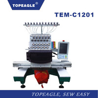 TOPEAGLE TEM-C1201 high quality 12 needle cap embroidery machine