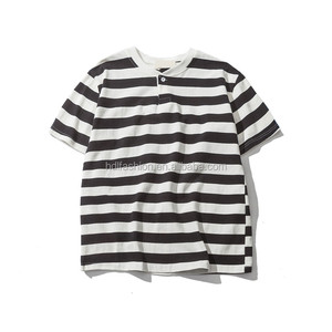 China factory wholesale casual stripes men's summer cotton t shirt