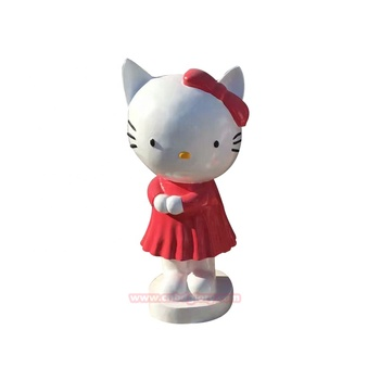 Christmas Ornaments Products fiberglass Cartoon Hello Kitty Statue