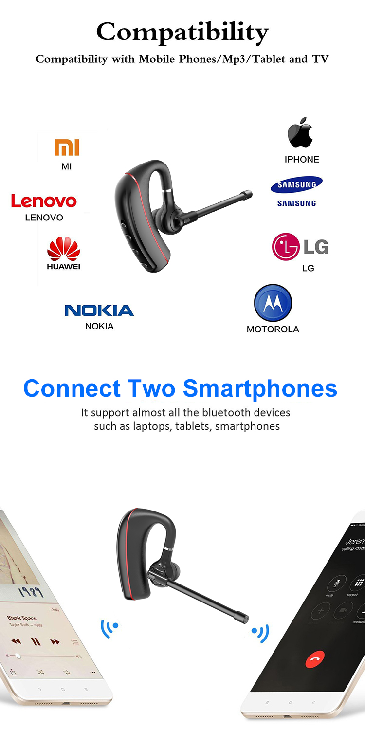 2019 New arrival Wholesale Wireless Headphones Earphone Hands free V4.1 Sports Stereo Wireless Bluetooth Headset