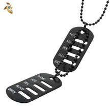 Manufacture dog tag metal grooved token of Bottom Price