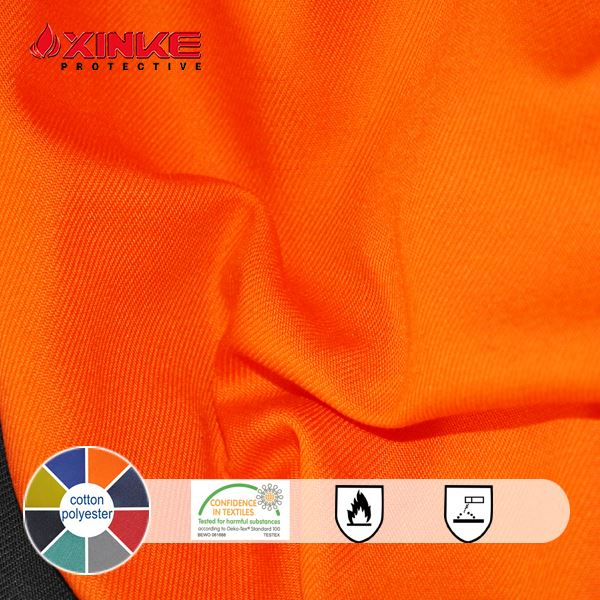 TC polyester cotton plain and twill active dyed and digital print flame retardant workwear fabric poplin uniform fabric