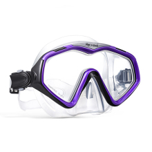 Custom single tempered glass lens deep sea free dive scuba underwater diving mask