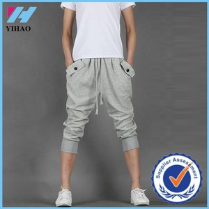 Yihao Wholesale Sports Wear Shorts for Men Sexy Running Capri Design Shorts 2015 New Gym Trunks