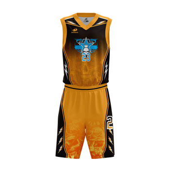 eb642f9249b ZHOUKA Latest Basketball Jersey Design Customized Basketball Shirts And Shorts  Sublimation Orange Basketball Jersey Uniform