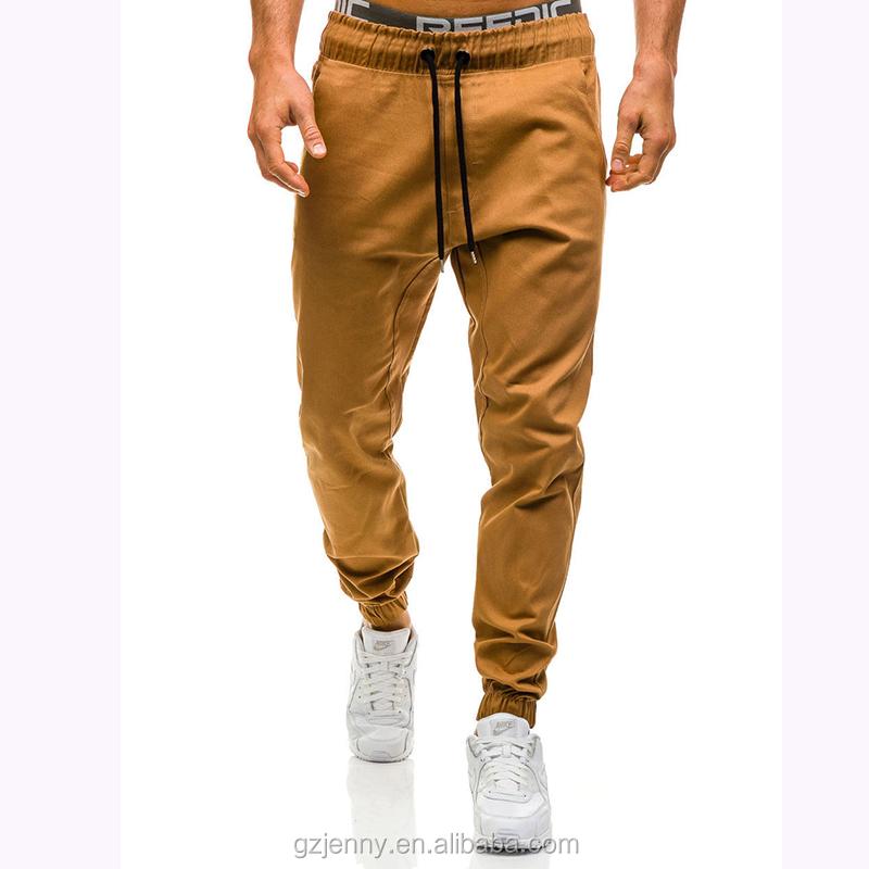 Oemカスタム高品質ジョガーパンツ男性ロングカーキパンツ弾性男性ズボンカーキスリムフィットジョガー