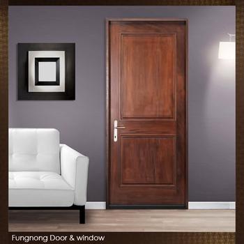 FD0020  House Door Model Simple Design Interior Teak Wood Door Slab With  Jamb