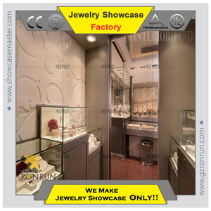 Lockable display cabinet and showcase for jewelry shop decoration