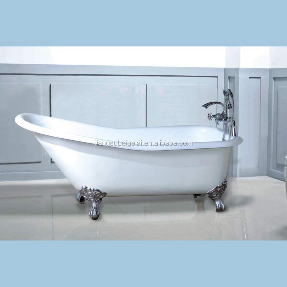 Small Freestanding Roll Top Bath Tub Cast Iron In 1380mm - Buy Small ...