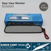 Dual- use 4.3 Inch Color Digital TFT-LCD Screen Car Rear View Mirror Monitor