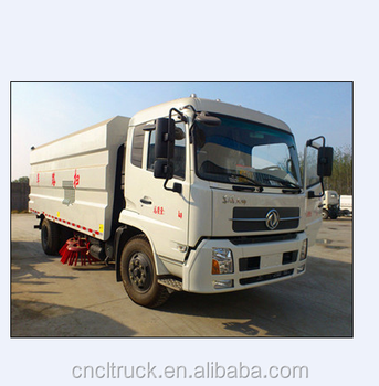 dongfeng tianjin washing road cleaning sweeper truck dustbin street sweeper truck