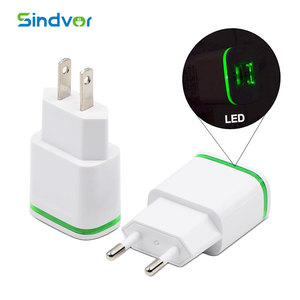 Promotion Dual USB Mobile Phone Charger 2.1A LED Dual USB Wall Charger For iphone