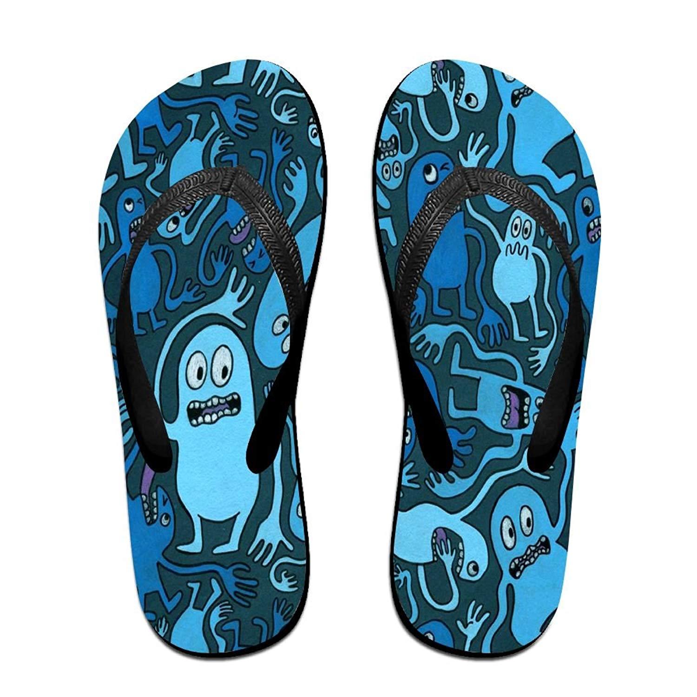 9a3d38d3f Get Quotations · Tailing Flip Flops Monster Pattern Unisex Trendy Print  Slippers Beach Sandal