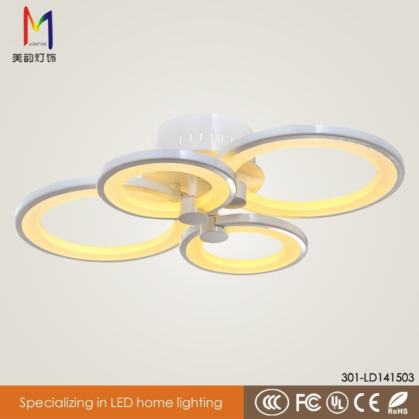 brand new four rings concise flush mount ceiling light for indoor decoration