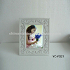 "7"" white wash picture frame / carving photo frame"
