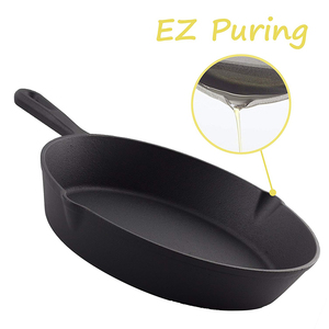 New Products Hot Selling Restaurant Teflon Cast Iron Camping Fry Pan