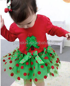 Wholesale girls Pettiskirts elastic waistband skirts Girls chiffon skirts Red polka dot skirt Boutique Fluffy Pettiskirt