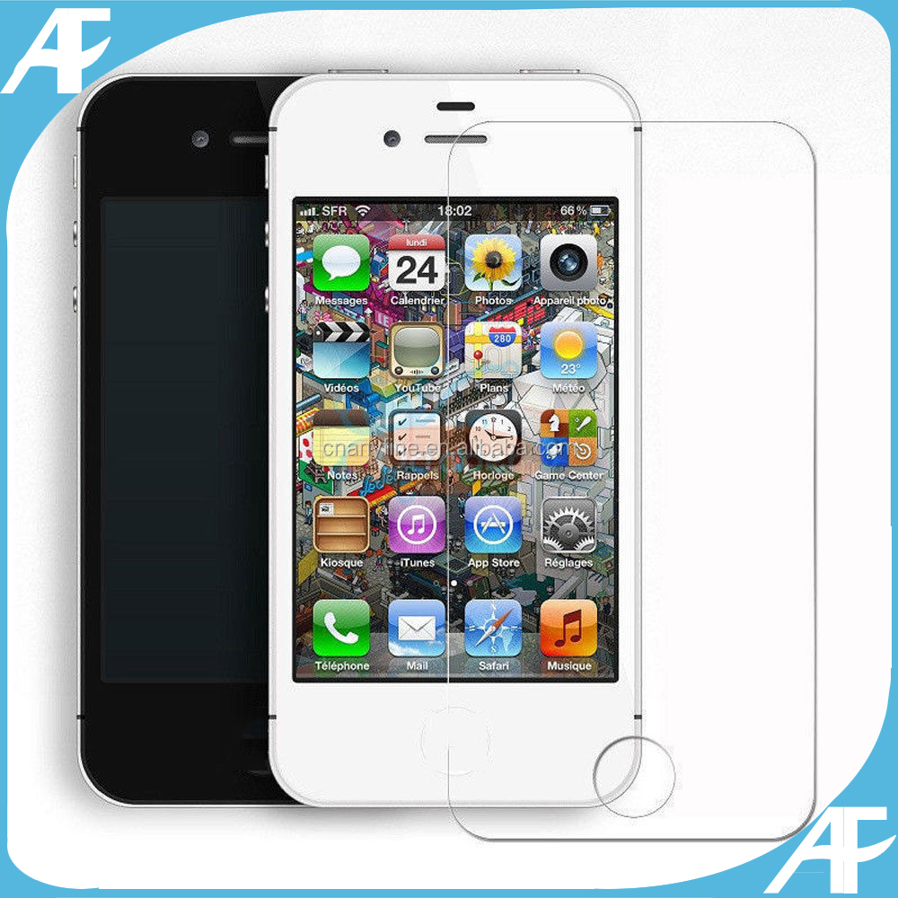 Top Sales Premium Real Tempered Glass For Apple Iphone Screen Protector For iPhone 4 4S Tempered glass