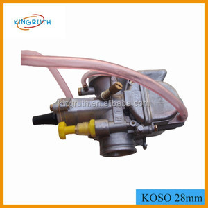 flat slide performance KOSO 28mm PWK carburetor for Scooter JOG DIO GY6 125  150 RTL250 CR80 CR85R CR125 NSR50 NSR80 DT100 125
