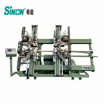 Vertical four points vinyl window welding making machine