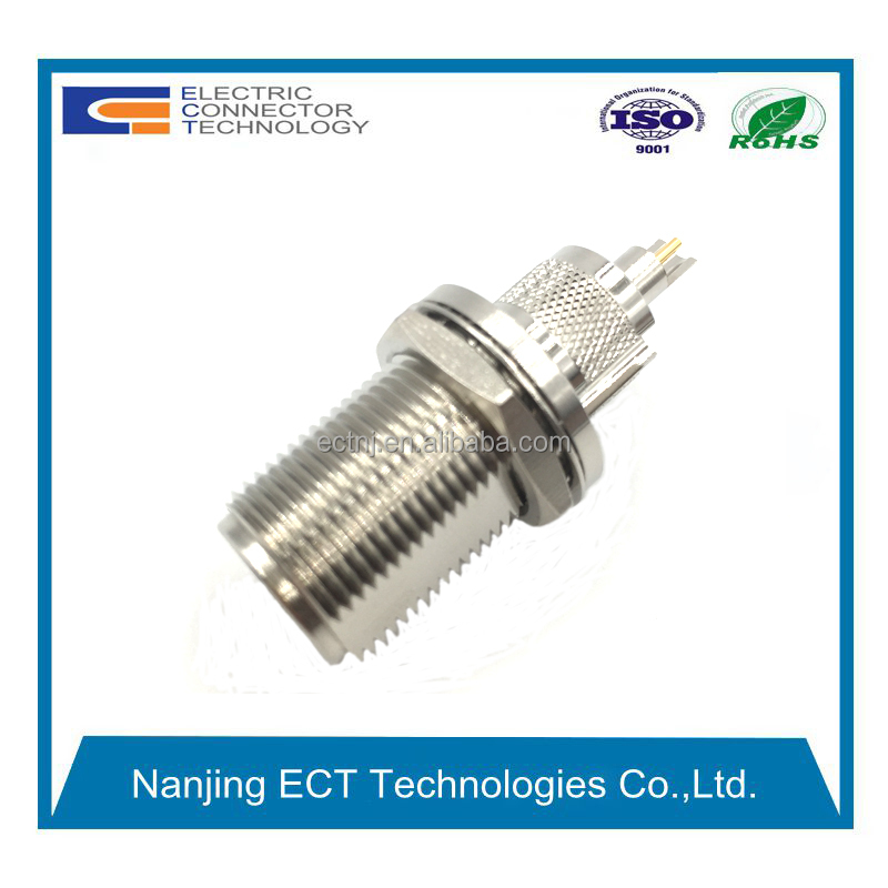 rf coax N type Female bullkhead connector