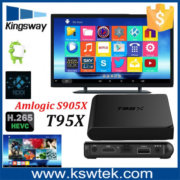 2017hot selling T95x Smart tv stick sexy hot hd video download strong receiver free download video songs fully loaded 4K TV BOX